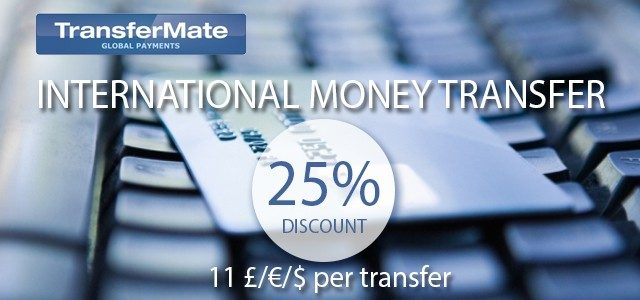 TransferMate – 25% discount on international money transfers