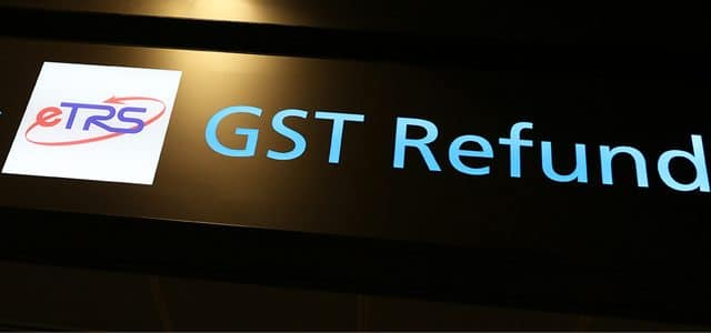Get your GST back when leaving australia