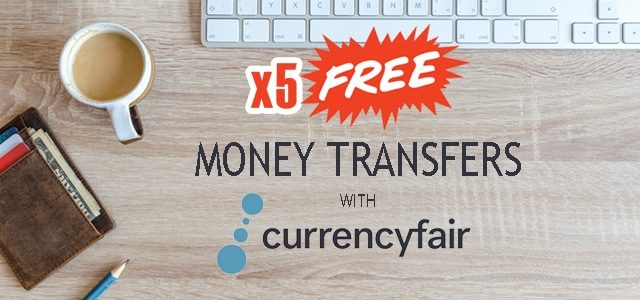 Get 5 free money transfers with CurrencyFair