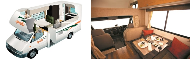 camper with children 4 seats 2