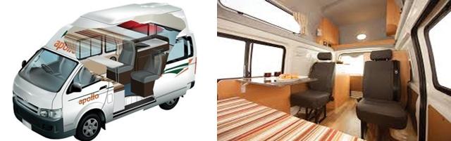 campervan with children apollo 4 seats