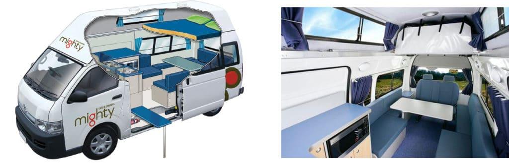 campervan with children mighty 2+2