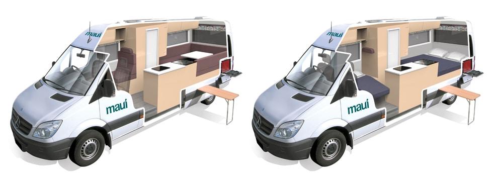 motorhome models 3-seater
