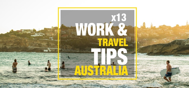 Work and travel tips australia