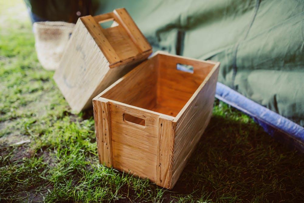 camping hacks boxes
